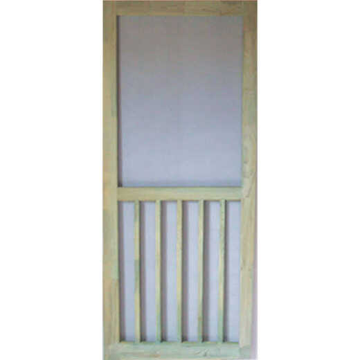 Snavely Kimberly Bay 32 In. W x 80 In. H x 1-1/8 In. Thick ACQ Treated Natural Finger Joint Pine Stiles & Rails 5-Bar Screen Door