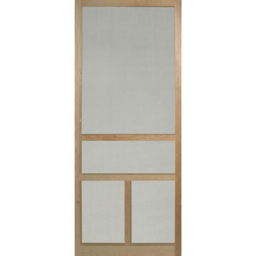 Snavely 36 In. W. x 80 In. H. x 1-1/8 In. Thick Natural Solid Pine Wood T-Bar Screen Door