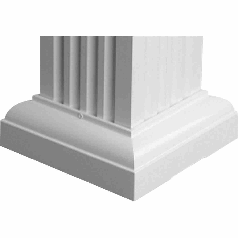 Crown Column 6 In. White Aluminum Standard Cap/Base Image 1