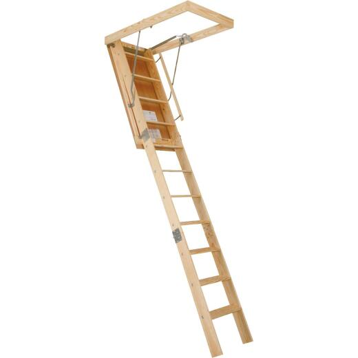 Louisville Champion 8 Ft. 9 In. to 10 Ft. 22-1/2 In. x 54 In. Wood Attic Stairs, 300 Lb. Load
