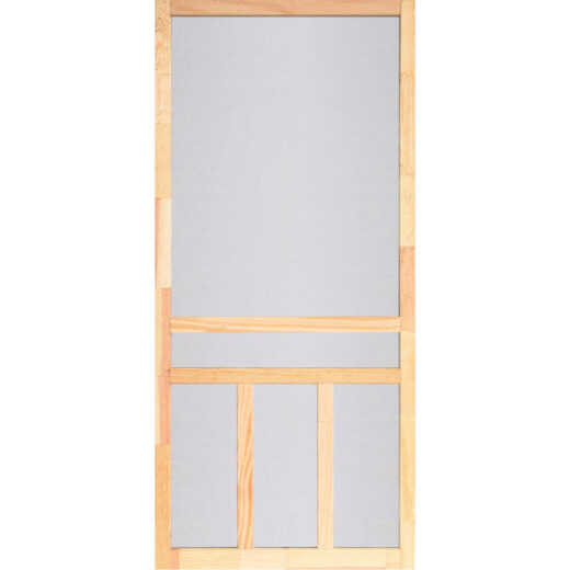 Screen Tight Creekside 32 In. W x 80 In. H x 1 In. Thick Natural Fingerjoint Wood T-Bar Screen Door