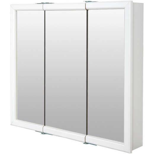 Zenith Zenna Home White 30 In. W x 28 In. H x 6 In. D Tri-View Surface Mount Medicine Cabinet