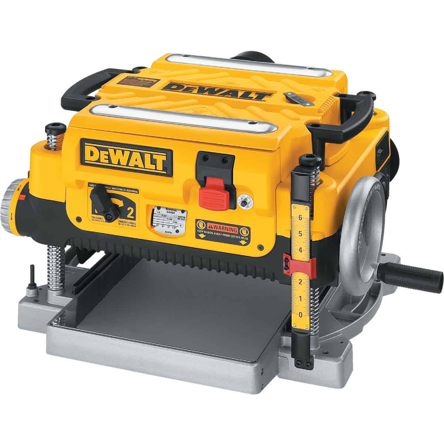 DeWalt 13 In. Three Knife Two-Speed Portable Planer Image 6