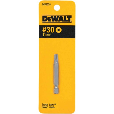 DeWalt T30 TORX 2 In. 1/4 In. Power Screwdriver Bit
