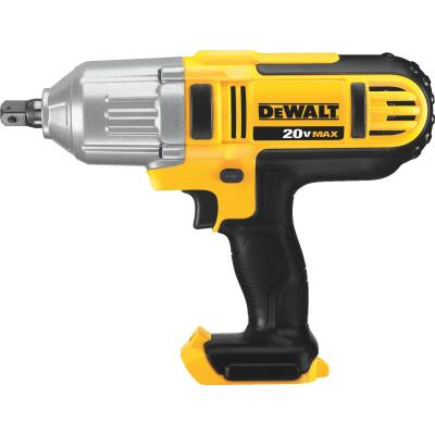 DeWalt 20 Volt MAX Lithium-Ion 1/2 In. High Torque Cordless Impact Wrench (Bare Tool)