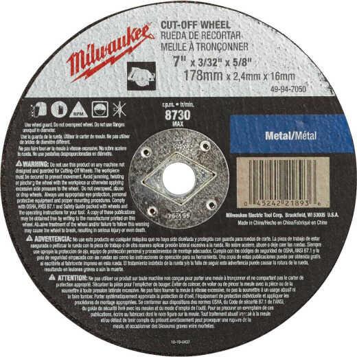 Milwaukee Type 1 7 In. x 3/32 In. x 5/8 In. Metal Cut-Off Wheel