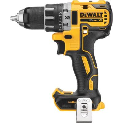 DeWalt 20 Volt MAX XR Lithium-Ion Brushless 1/2 In. Compact Cordless Drill/Driver (Bare Tool)
