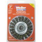 Weiler Vortec 4 In. Stringer Bead 0.014 In. Angle Grinder Wire Wheel Image 2