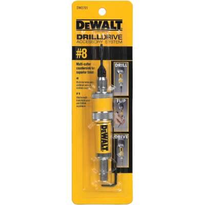 DeWalt #8 1/4 In. Black Oxide Drill & Drive Unit