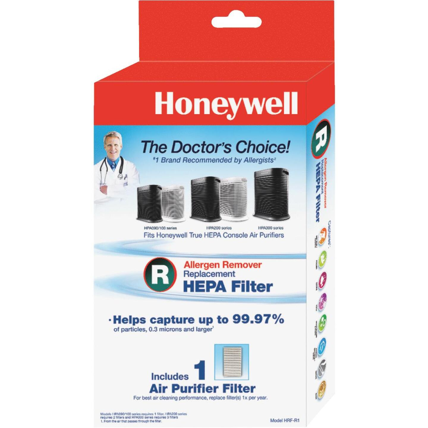 Honeywell True HEPA Replacement Air Purifier Filter Image 1