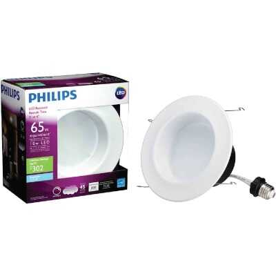 Philips 5 In. Retrofit Non-IC Rated White LED Recessed Light Kit