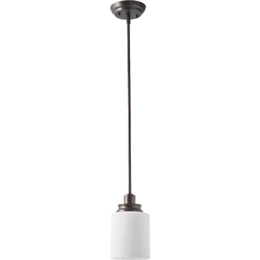 Home Impressions Crawford 1-Bulb Oil Rubbed Bronze Incandescent Pendant Light Fixture