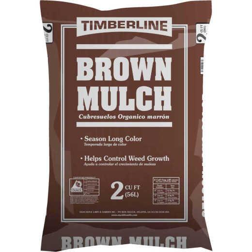 Timberline 2 Cu. Ft. Dyed Brown Shredded Hardwood Mulch