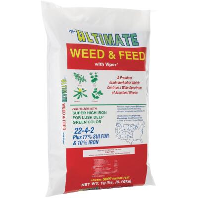 Ultimate Weed & Feed 18 Lb. 5000 Sq. Ft. 22-4-2 Lawn Fertilizer with Weed Killer