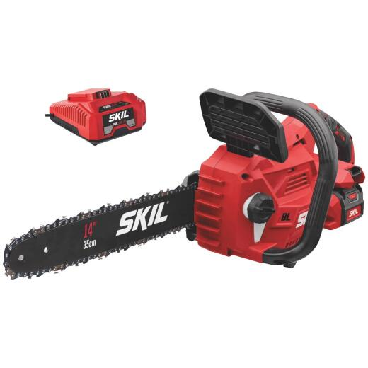 SKIL PWRCore 40V Brushless 14 In. Chain Saw with AutoPWRJump Charger