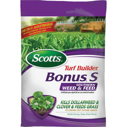 Scotts Turf Builder Bonus S Southern Weed & Feed 18.62 Lb. 5000 Sq. Ft. 29-0-10 Lawn Fertilizer with Weed Killer