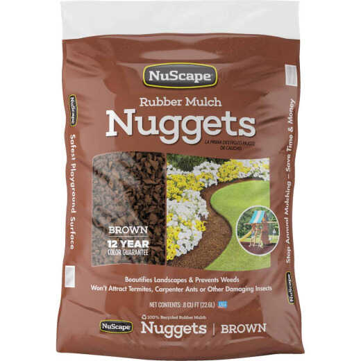 NuScape Brown 0.8 Cu. Ft. Rubber Mulch Nuggets
