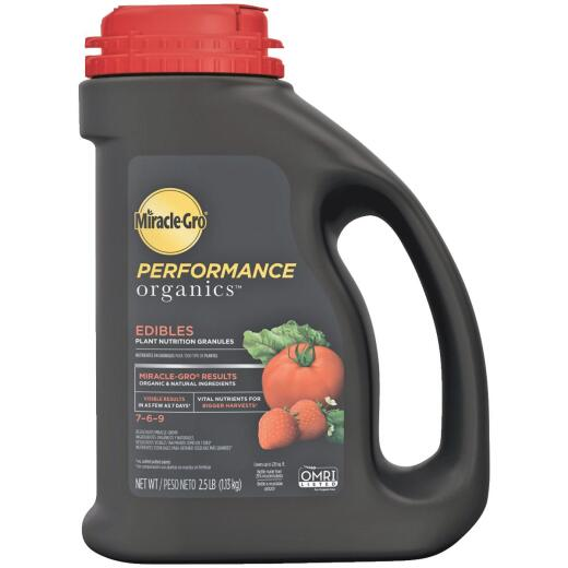 Miracle-Gro Performance Organics 2.5 Lb. 7-6-9 Plant Food for Edibles