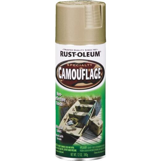 Rust-Oleum Camouflage 12 Oz. Flat Spray Paint, Sand