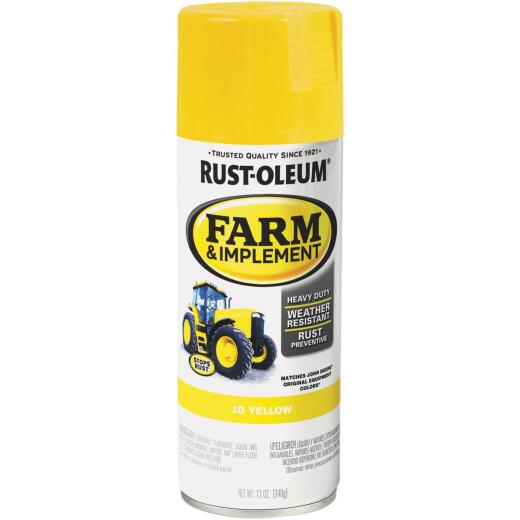 Rust-Oleum 12 Oz. JD Yellow Farm & Implement Spray Paint