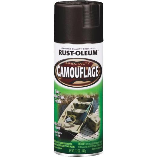 Rust-Oleum Camouflage 12 Oz. Flat Spray Paint, Black