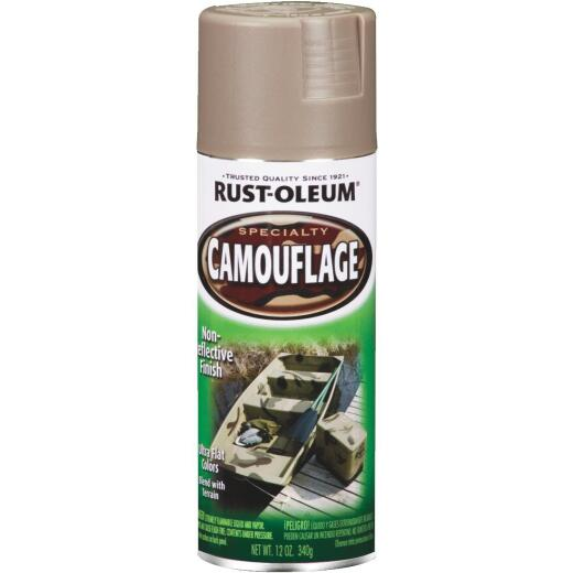 Rust-Oleum Camouflage 12 Oz. Flat Spray Paint, Khaki