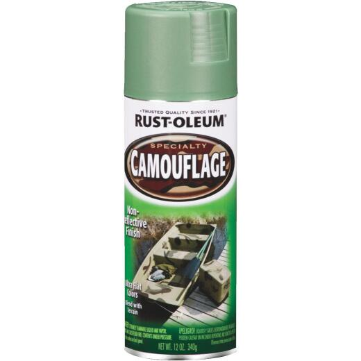 Rust-Oleum Camouflage 12 Oz. Flat Spray Paint, Army Green