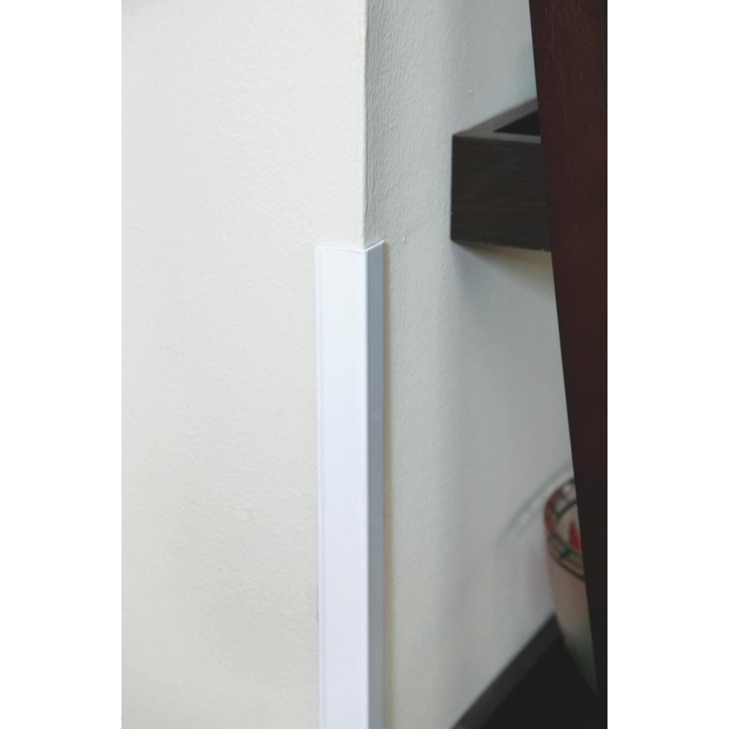 Wallprotex 1-1/8 In. x 4 Ft. White Self-Adhesive Corner Guard Image 2
