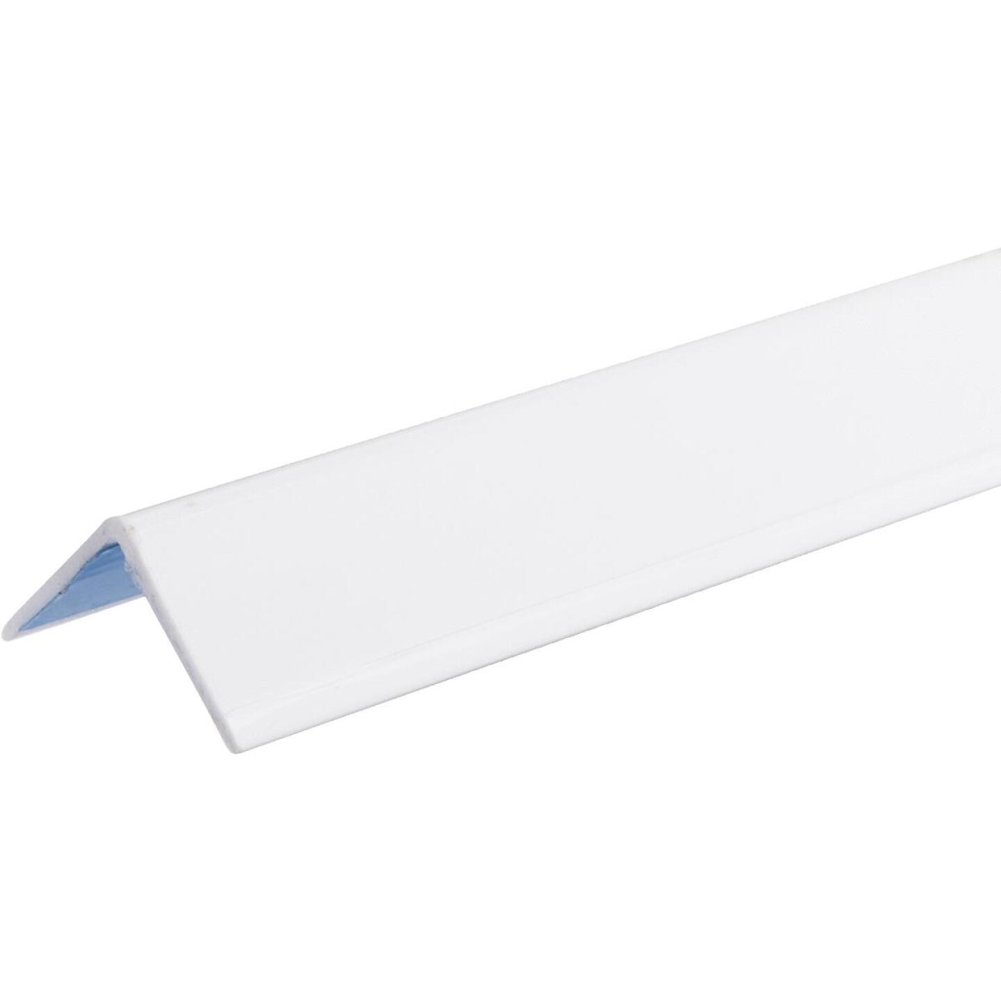 Wallprotex 1-1/8 In. x 4 Ft. White Self-Adhesive Corner Guard Image 1