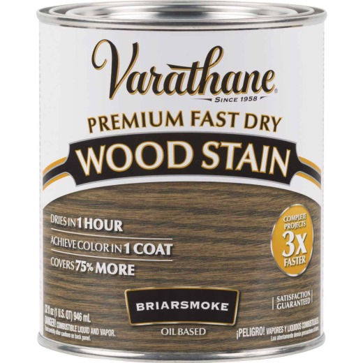 Varathane Fast Dry Briarsmoke Urethane Modified Alkyd Interior Wood Stain, 1 Qt.