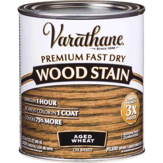 Varathane Fast Dry Aged Wheat Urethane Modified Alkyd Interior Wood Stain, 1 Qt.