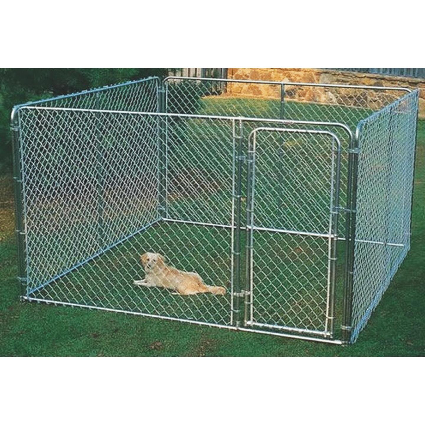 Fence Master Silver Series 10 Ft. W. x 6 Ft. H. x 10 Ft. L. Steel Outdoor Pet Kennel Image 1